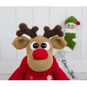 "Rudy the Little Reindeer ""Little Explorer Series"" Amigurumi Crochet Pattern"