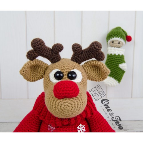 Amigurumi Reindeer - A Free Crochet Pattern - Grace and Yarn | 500x500