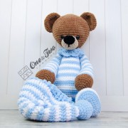 "Sydney the Big Teddy Bear ""Big Hugs Series"" Amigurumi Crochet Pattern"