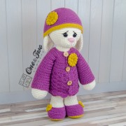 "Blossom the Big Bunny ""Big Hugs Series"" Amigurumi Crochet Pattern"