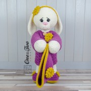 "Blossom the Big Bunny ""Big Hugs Series"" Amigurumi Crochet Pattern"