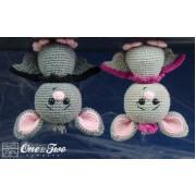 Brook the Tiny Bat Amigurumi Crochet Pattern