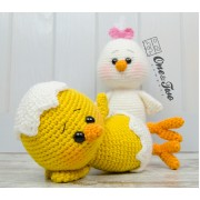 Coco the Little Chicken Amigurumi Crochet Pattern