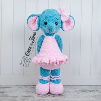 "Emma the Big Elephant ""Big Hugs Series"" Amigurumi Crochet Pattern"