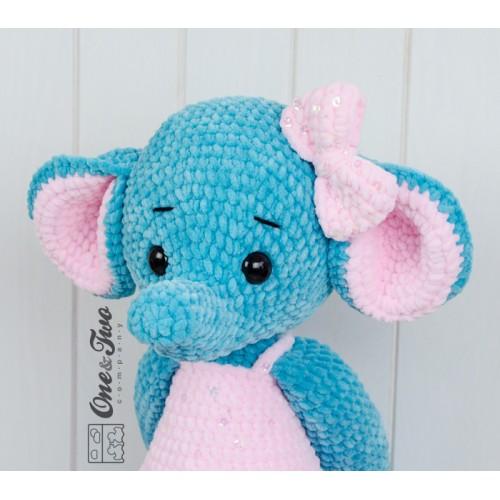 Emma The Big Elephant Big Hugs Series Amigurumi Crochet Pattern
