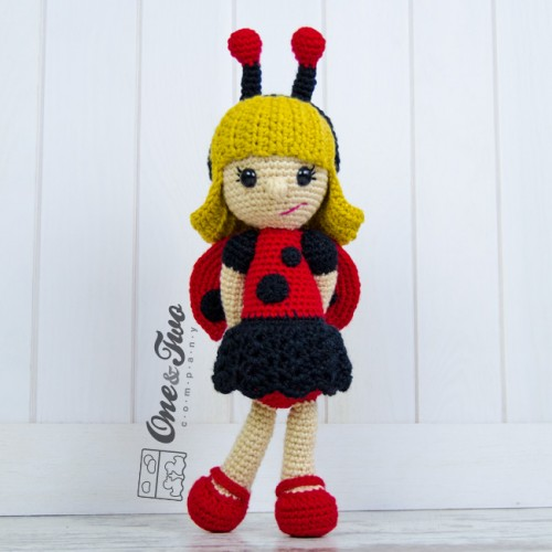 June The Ladybug Girl Amigurumi Crochet Pattern