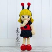 June the Ladybug Girl Amigurumi Crochet Pattern