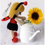 June the Ladybug Girl Lovey and Amigurumi Crochet Patterns Pack