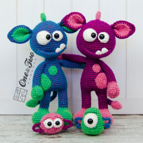 Tippy Toe Monsters amigurumi pattern - Amigurumipatterns.net | 500x500
