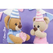 Mia and Owen the Birthday Bears Lovey and Amigurumi Crochet Patterns Pack