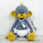 "Morris the Big Baby Monkey ""Big Hugs Series"" Amigurumi Crochet Pattern"