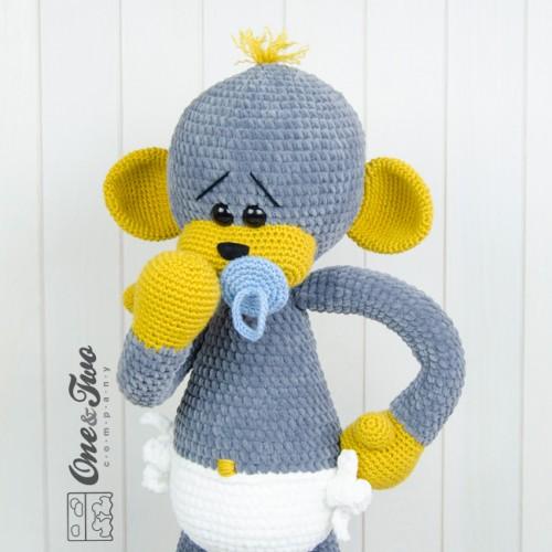 Amigurumi Big Monkey : Morris the Big Baby Monkey