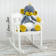 "Morris the Big Baby Monkey ""Big Hugs Series"" Amigurumi Crochet Pattern"