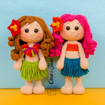 Mya the Hawaiian Girl Amigurumi Crochet Pattern