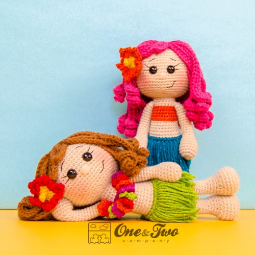 Hawaiian Hula Dancer (Free Amigurumi Crochet Doll Pattern) - Sweet ... | 500x500