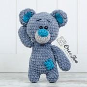 Patches the Little Teddy Bear Amigurumi Crochet Pattern