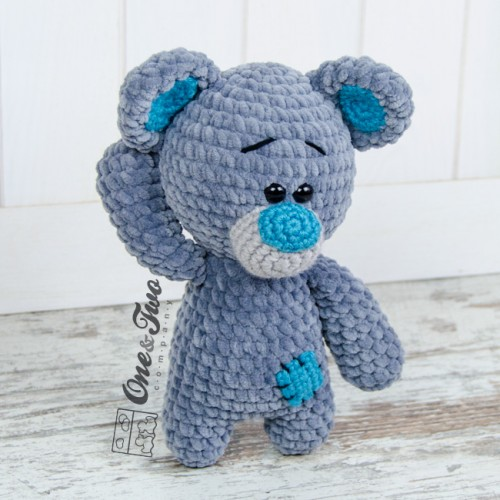 Amigurumi Little Teddy Bear : Patches the Little Teddy Bear Amigurumi Crochet Pattern