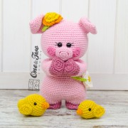 "Poppy the Sweet Piggy and Friends ""Little Explorer Series"" Amigurumi Crochet Pattern"