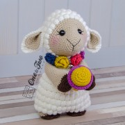 "Sophie the Little Sheep ""Little Explorer Series"" Amigurumi Crochet Pattern"