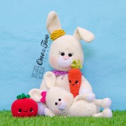 Betsy and Beth the Little Bunny Family Crochet Pattern