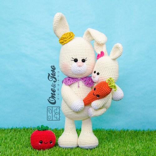 Amazon.com: Crochet Kit - Bunny Family - Amigurumi Kit: Handmade | 500x500