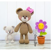 Bonnie and Benjamin the Little Teddy Bear Family Crochet Pattern
