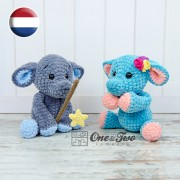 Enzo the Tiny Elephant Amigurumi Crochet Pattern - Dutch Version