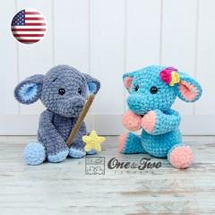 Enzo the Tiny Elephant Amigurumi Crochet Pattern - English Version