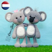 Kira the Koala Amigurumi Crochet Pattern - Dutch Version