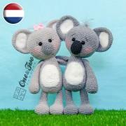 Kira the Koala Amigurumi Crochet Pattern - Dutch Version