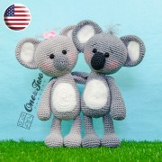Kira the Koala Amigurumi Crochet Pattern - English Version