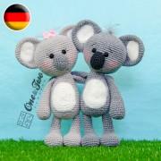 Kira the Koala Amigurumi Crochet Pattern - German Version