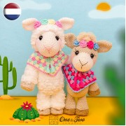 Astrid the Alpaca Amigurumi Crochet Pattern - Dutch Version