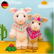 Astrid the Alpaca Amigurumi Crochet Pattern - German Version