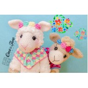 Astrid the Alpaca Lovey and Amigurumi Crochet Patterns Pack - German Version