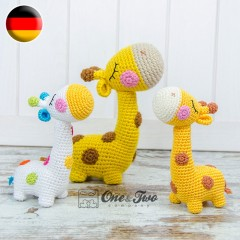 Bernie the Giraffe - Quad Squad Series Amigurumi Crochet Pattern - German Version