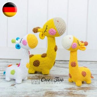 Bernie the Giraffe - Quad Squad Series Amigurumi Crochet Pattern - German Version