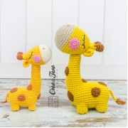 Bernie the Giraffe - Quad Squad Series Amigurumi Crochet Pattern - English, Dutch, German
