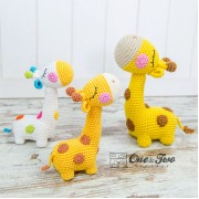 Bernie the Giraffe - Quad Squad Series Amigurumi Crochet Pattern - English Version