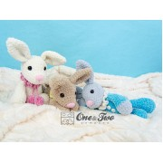 Bubble the Little Bunny Amigurumi Crochet Pattern - English, Dutch, German