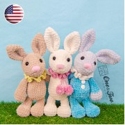 Bubble the Little Bunny Amigurumi Crochet Pattern - English Version