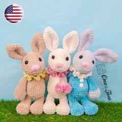 Bubble the Little Bunny Amigurumi Crochet Pattern - English Version
