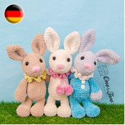 Bubble the Little Bunny Amigurumi Crochet Pattern - German Version