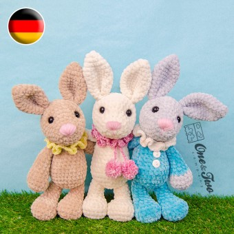 Bubble the Little Bunny Amigurumi Crochet Pattern - German Version