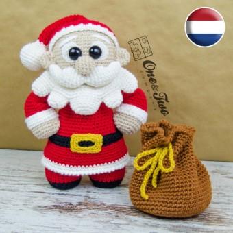 "Claus the Little Santa ""Little Explorer Series"" Amigurumi Crochet Pattern - Dutch Version"