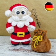 "Claus the Little Santa ""Little Explorer Series"" Amigurumi Crochet Pattern - German Version"