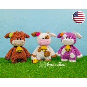 "Clotilde the Little Cow ""Little Explorer Series"" Amigurumi Crochet Pattern - English Version"