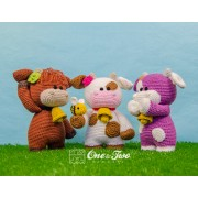 "Clotilde the Little Cow ""Little Explorer Series"" Amigurumi Crochet Pattern - Dutch Version"