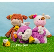 "Clotilde the Little Cow ""Little Explorer Series"" Amigurumi Crochet Pattern - English, Dutch, German"