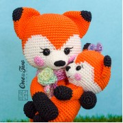 Felicity and Fiona the Little Fox Family Amigurumi Crochet Pattern - English Version